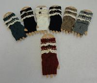 Knitted Hand Warmers [Antique Lace-1 Button]